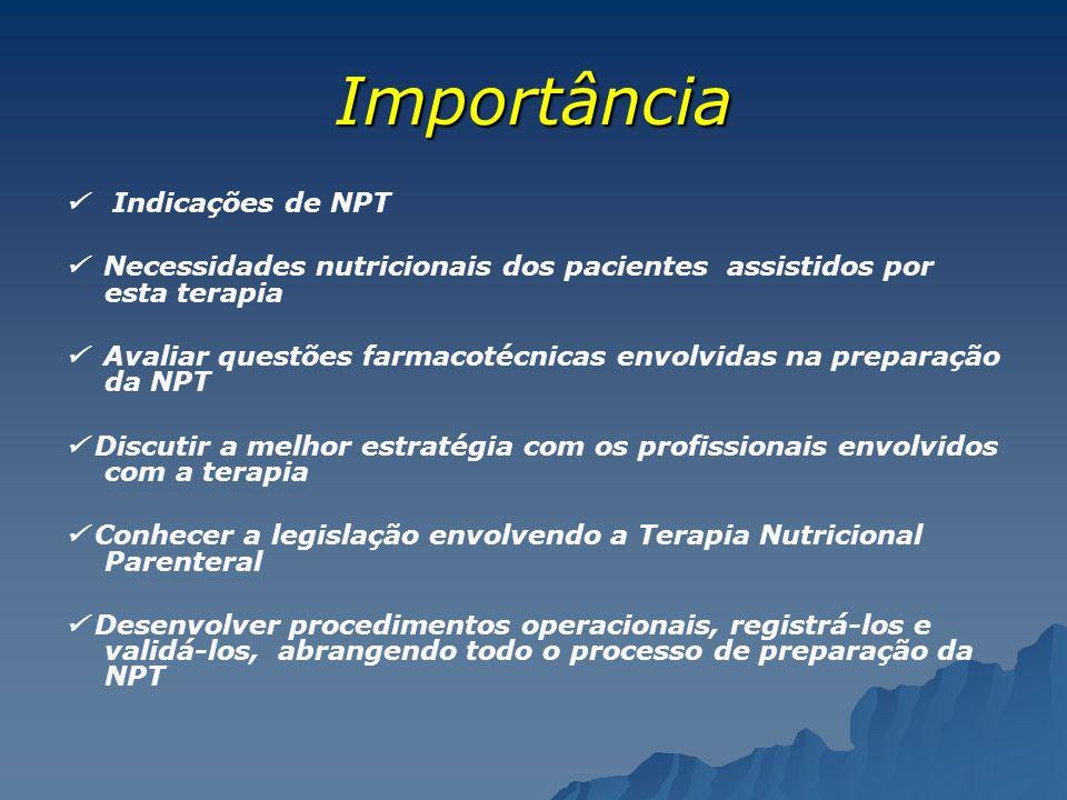 Importância  Indicações de NPT