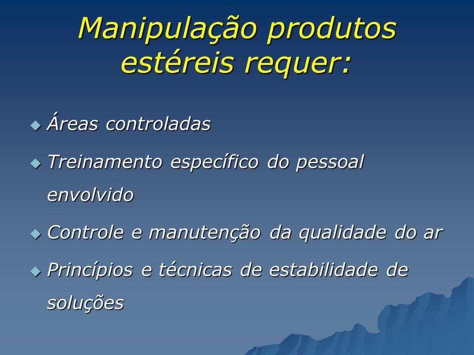 Manipulação produtos estéreis requer: