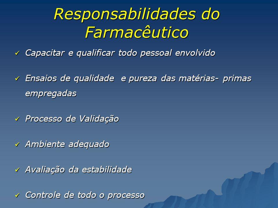 Responsabilidades do Farmacêutico
