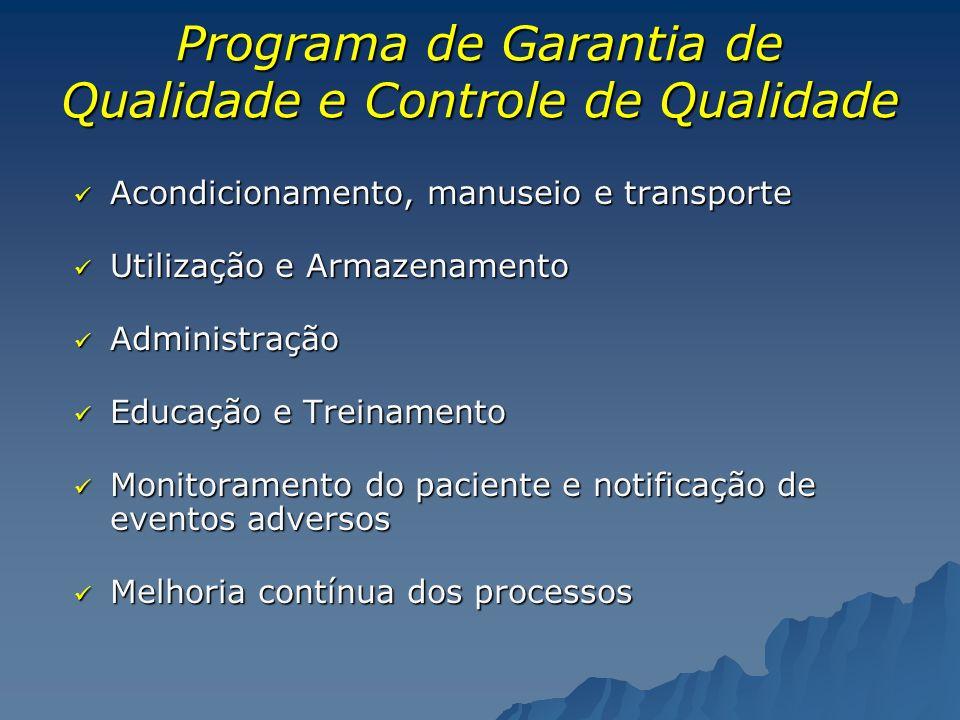 Programa de Garantia de Qualidade e Controle de Qualidade