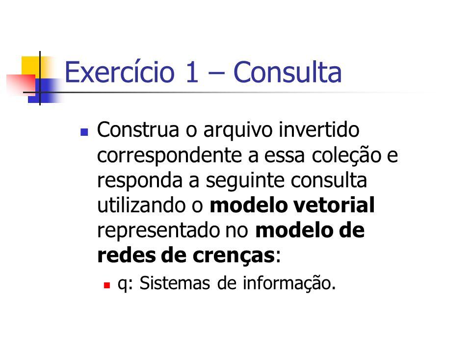 Exercício 1 – Consulta
