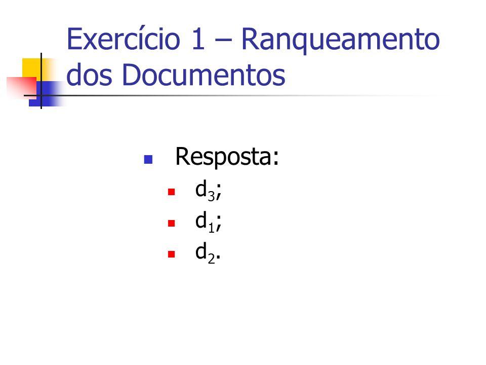 Exercício 1 – Ranqueamento dos Documentos