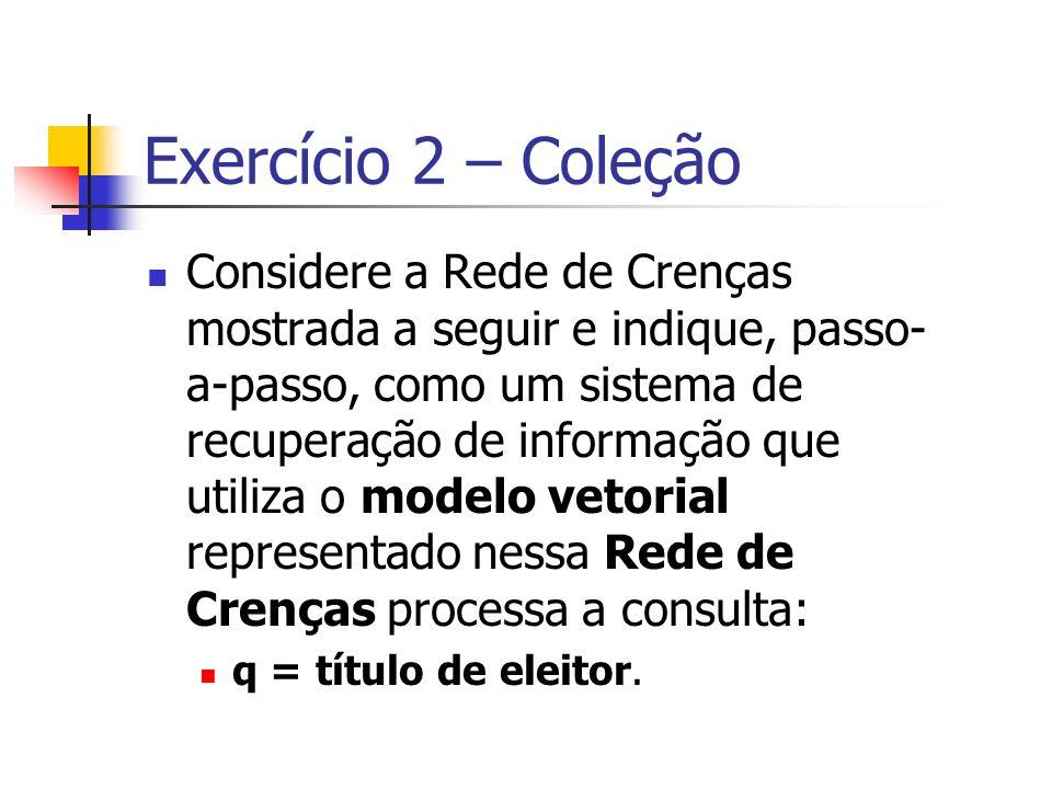 Exercício 2 – Coleção
