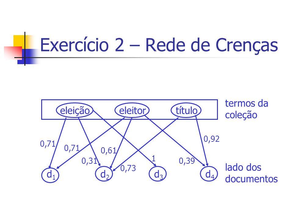 Exercício 2 – Rede de Crenças