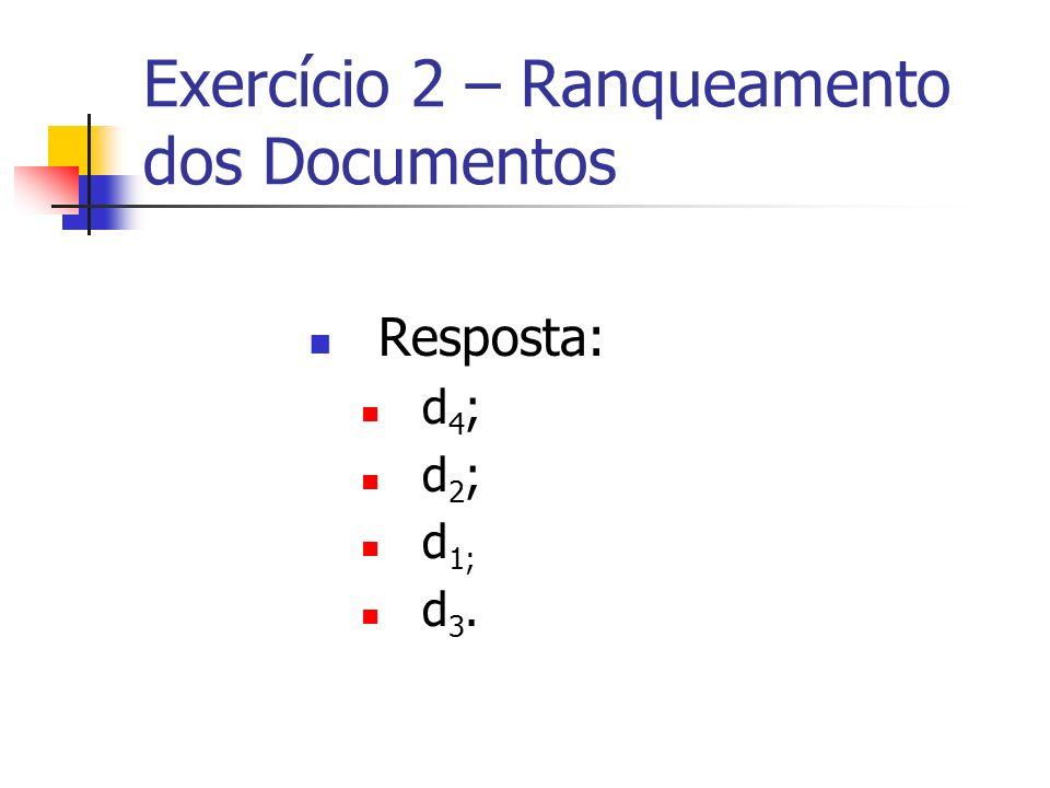 Exercício 2 – Ranqueamento dos Documentos