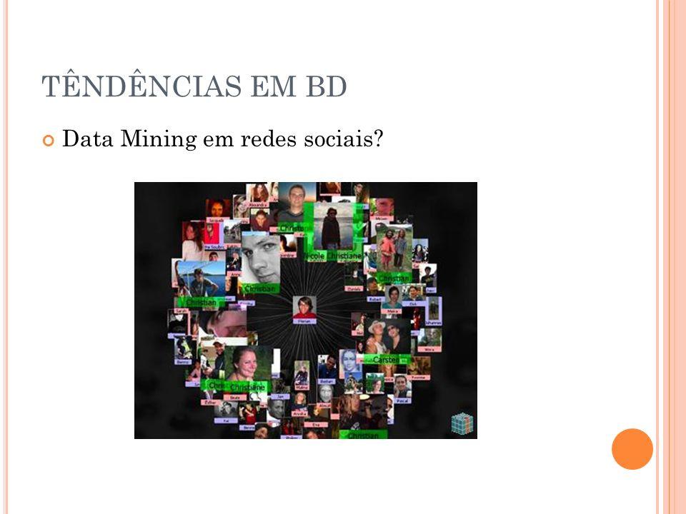 TÊNDÊNCIAS EM BD Data Mining em redes sociais
