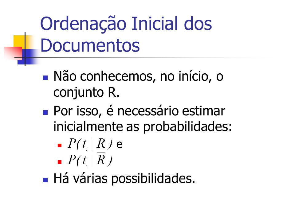 Ordenação Inicial dos Documentos