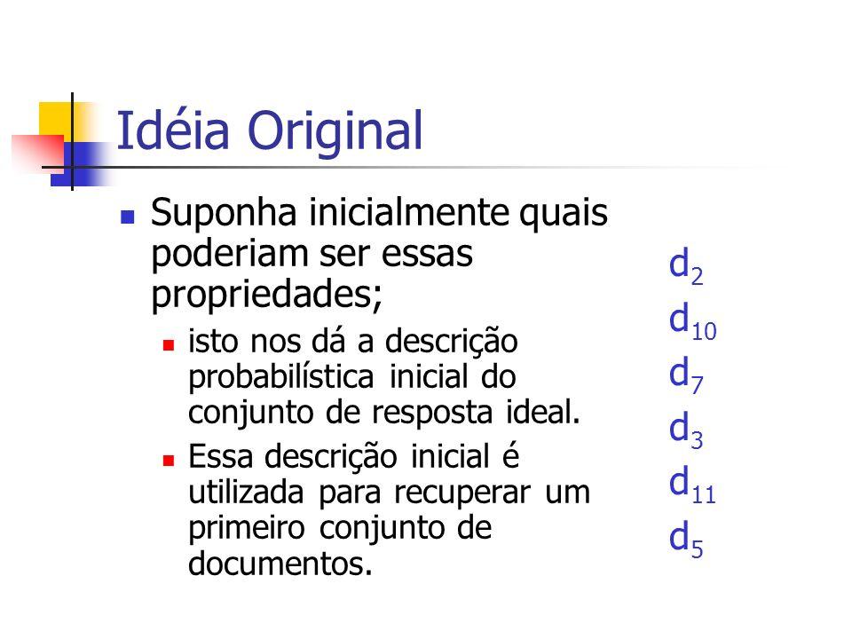 Idéia Original Suponha inicialmente quais poderiam ser essas propriedades;