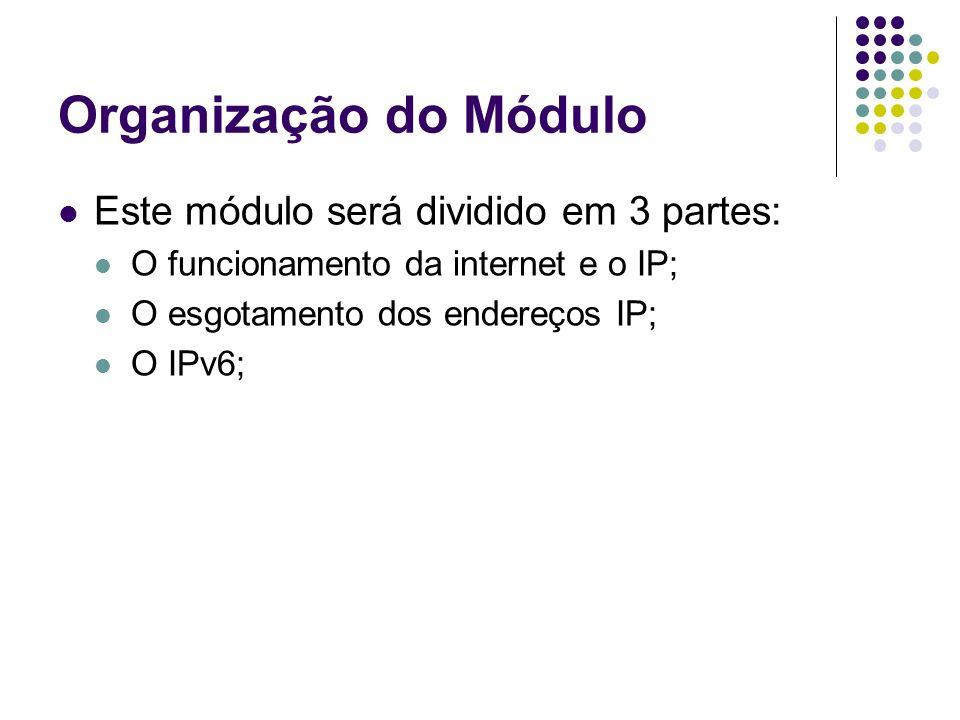 Organização do Módulo Este módulo será dividido em 3 partes: