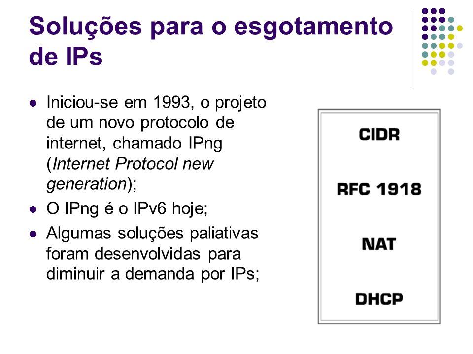 Soluções para o esgotamento de IPs