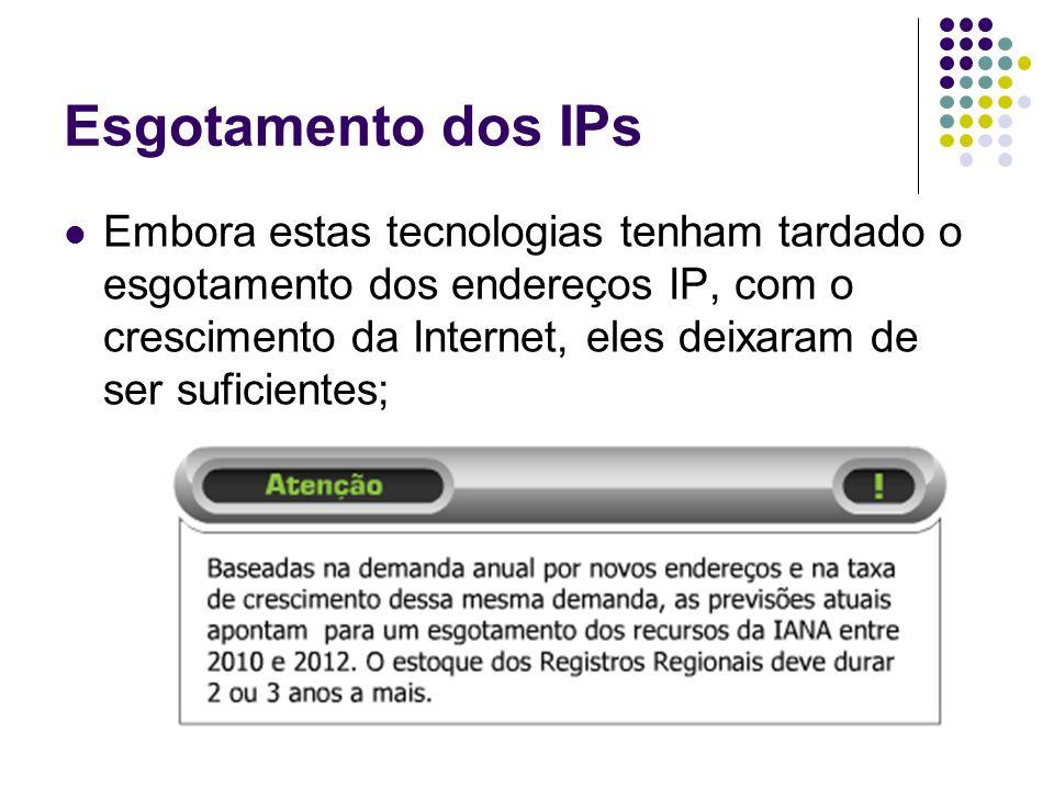 Esgotamento dos IPs