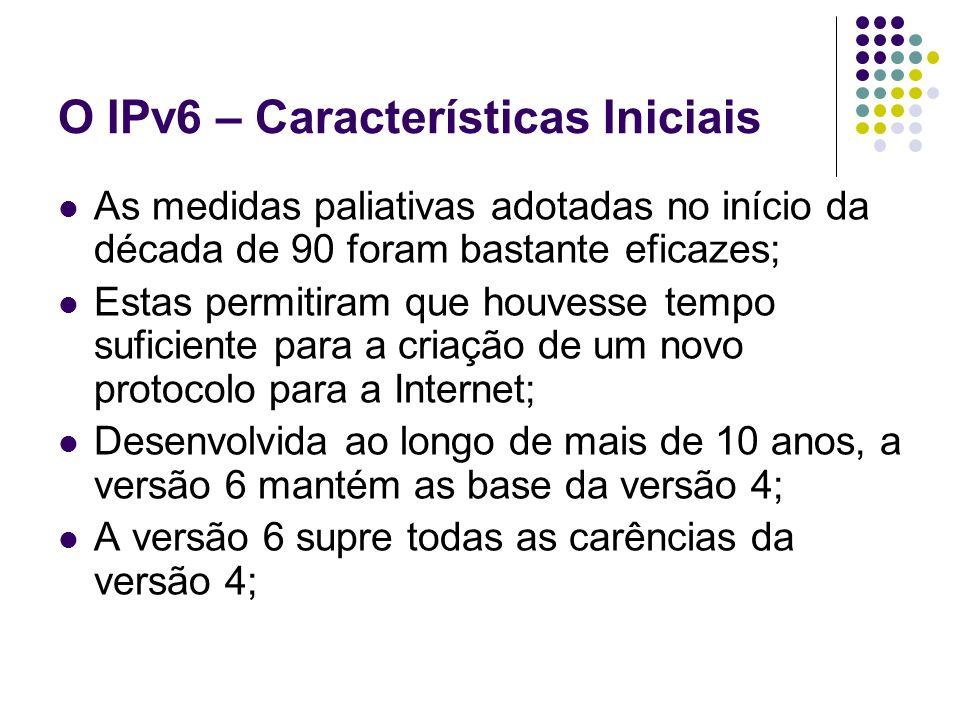 O IPv6 – Características Iniciais
