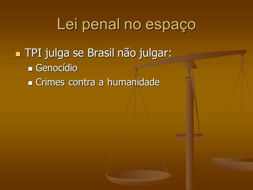 Lei penal no espaço TPI julga se Brasil não julgar: Genocídio