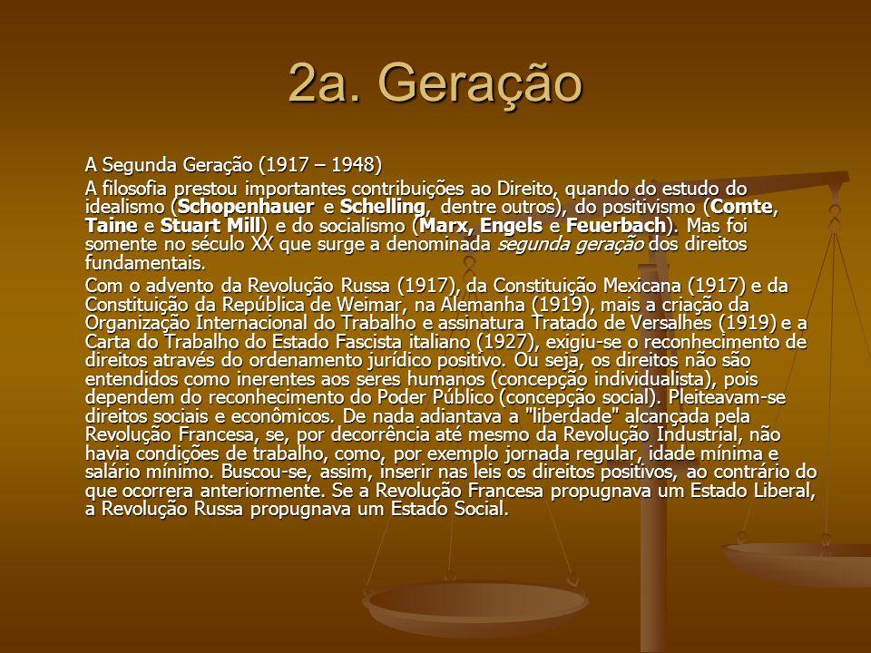 2a. Geração A Segunda Geração (1917 – 1948)