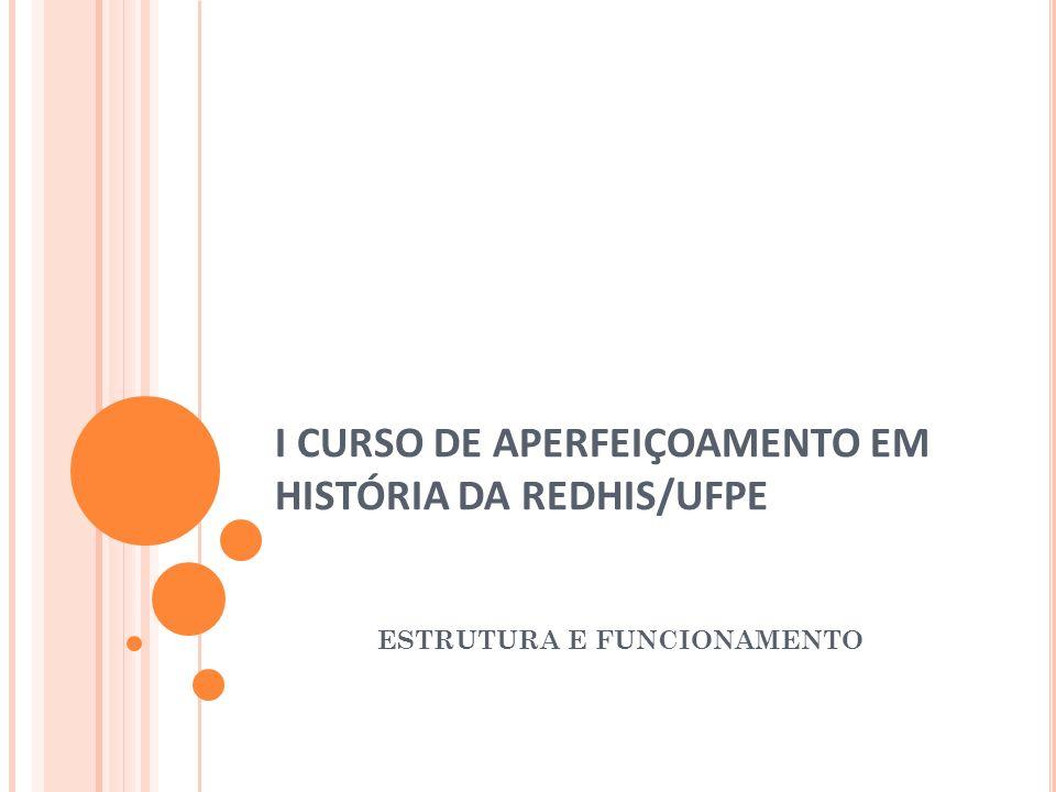 I CURSO DE APERFEIÇOAMENTO EM HISTÓRIA DA REDHIS/UFPE
