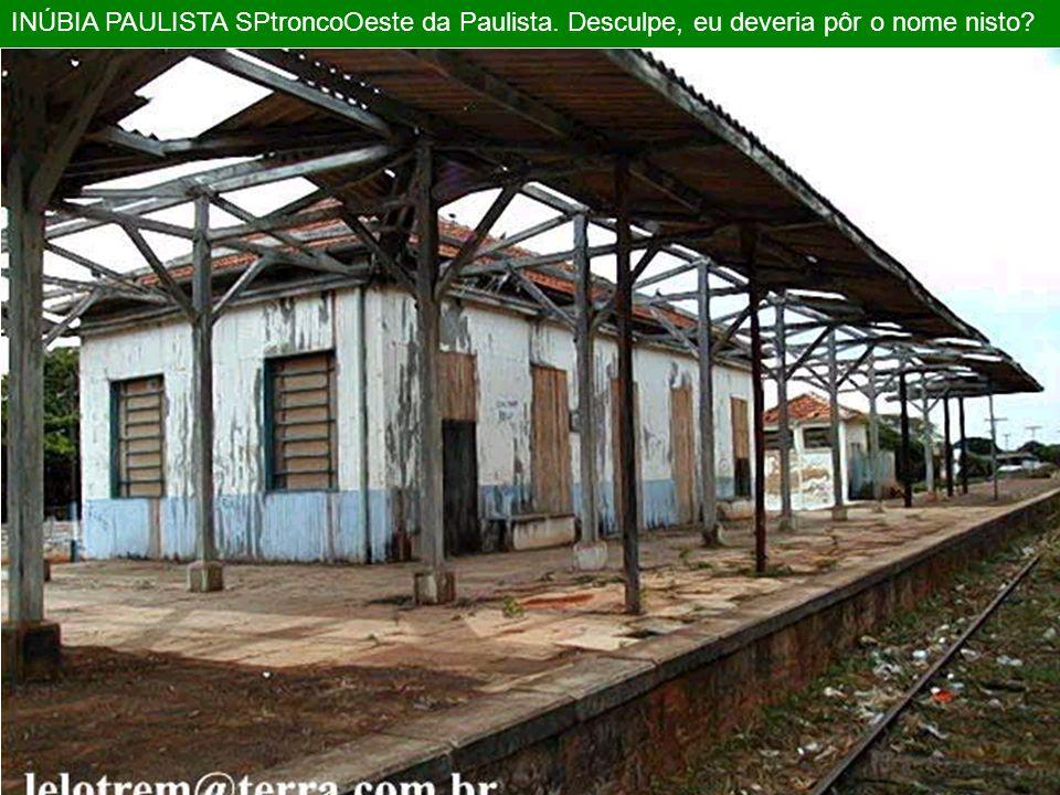 INÚBIA PAULISTA SPtroncoOeste da Paulista
