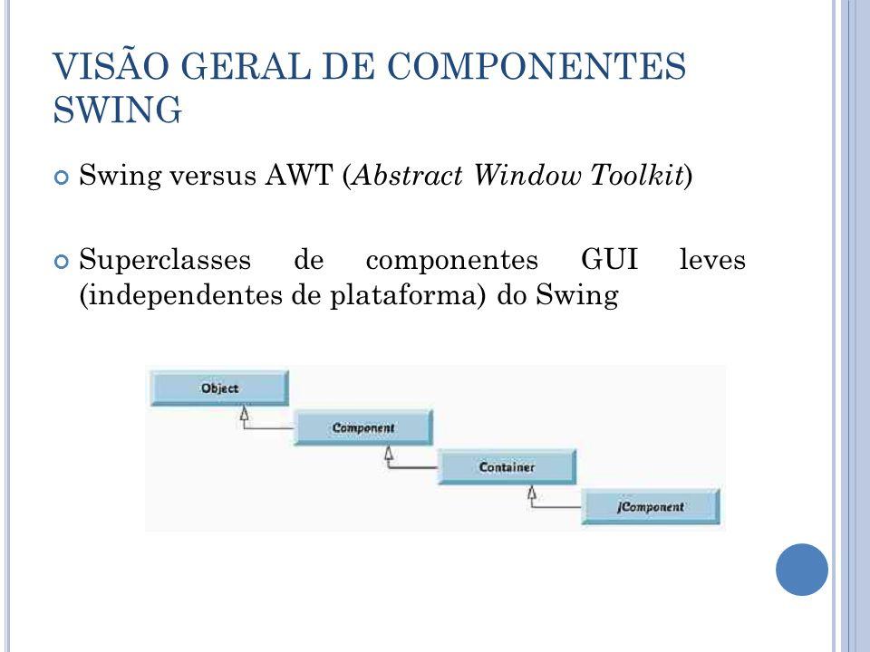 VISÃO GERAL DE COMPONENTES SWING
