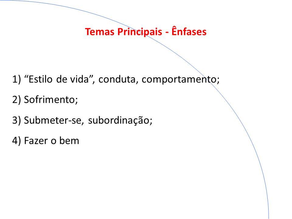 Temas Principais - Ênfases