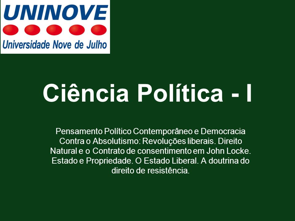 Ciência Política - I