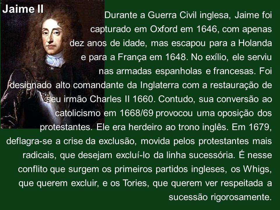 Jaime II Durante a Guerra Civil inglesa, Jaime foi