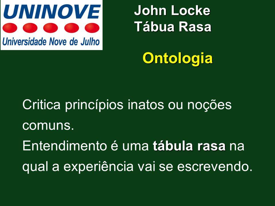 Ontologia John Locke Tábua Rasa