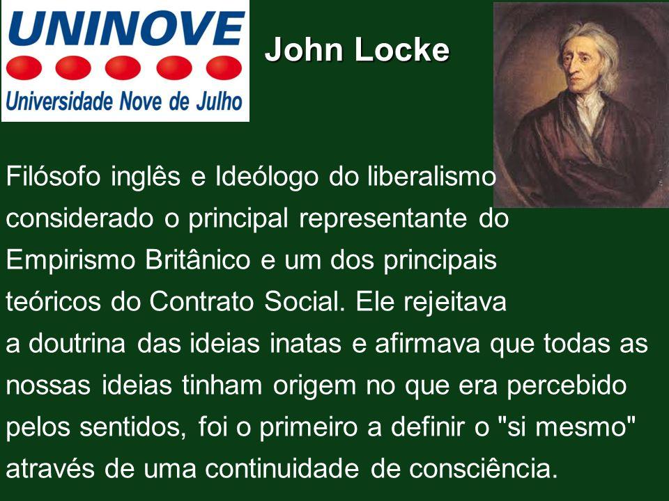 John Locke Filósofo inglês e Ideólogo do liberalismo