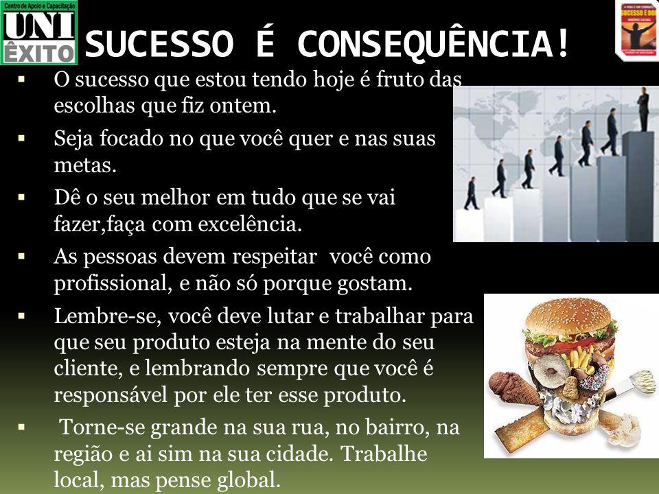 SUCESSO É CONSEQUÊNCIA!