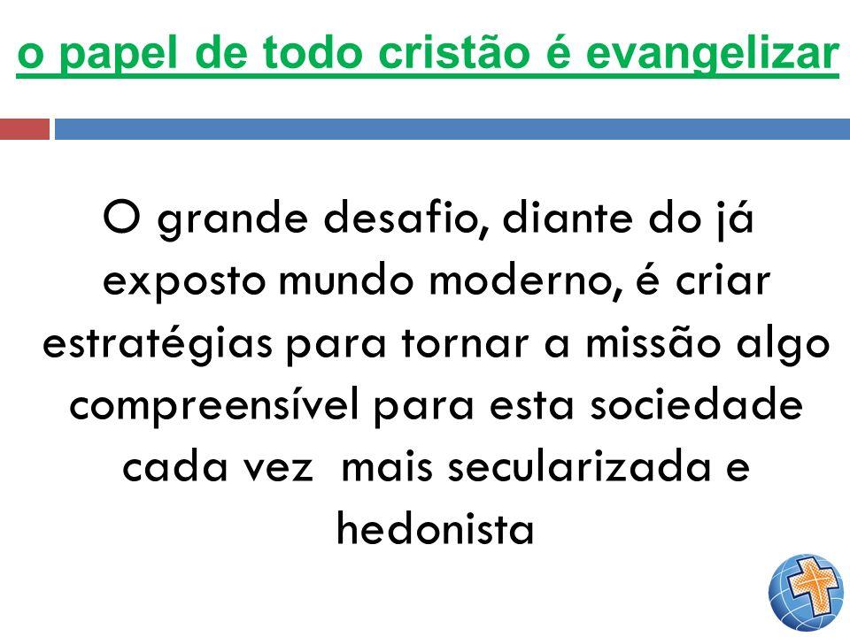 o papel de todo cristão é evangelizar