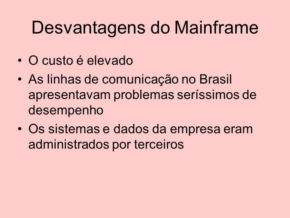 Desvantagens do Mainframe