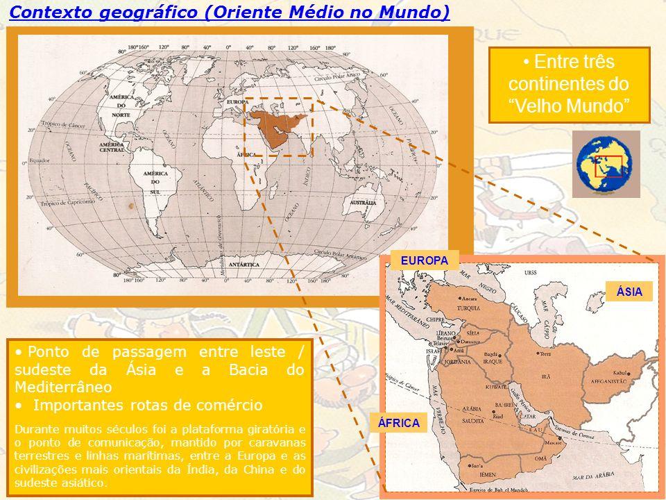 Entre três continentes do Velho Mundo