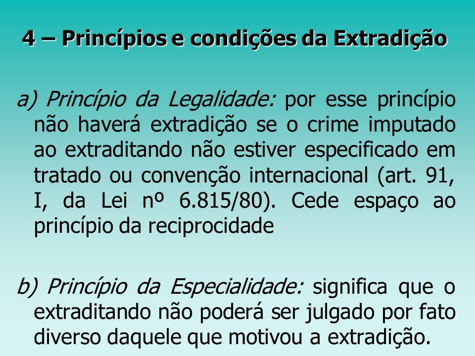 4 – Princípios e condições da Extradição
