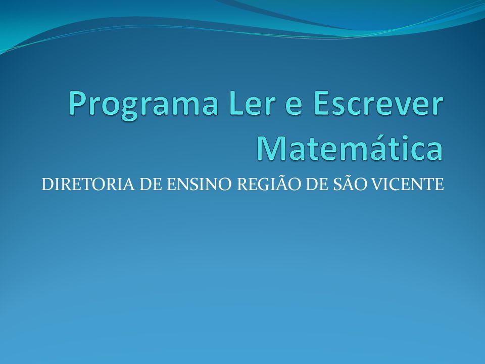 Programa Ler e Escrever Matemática