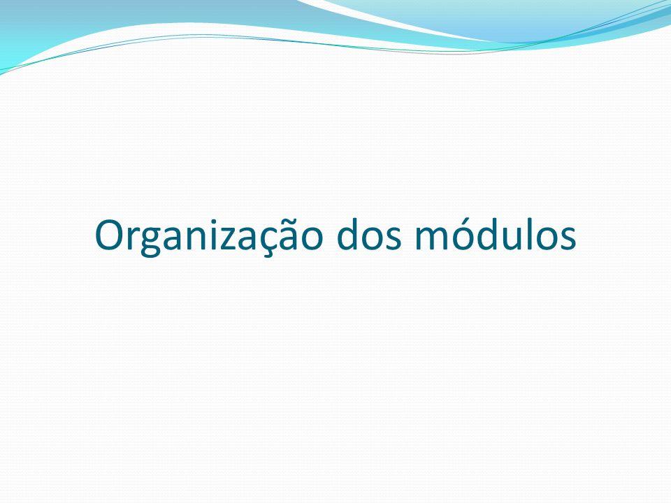 Organização dos módulos