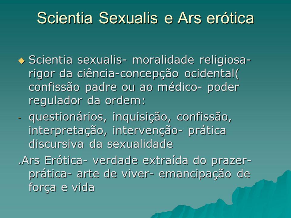 Scientia Sexualis e Ars erótica