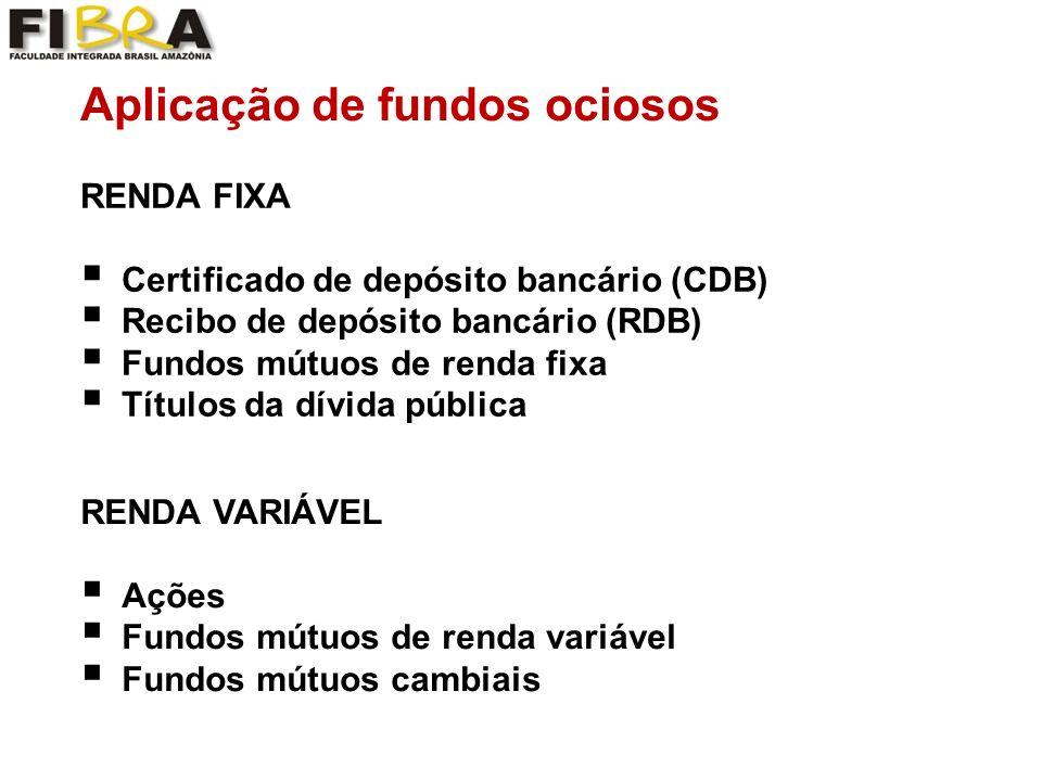 Aplicação de fundos ociosos