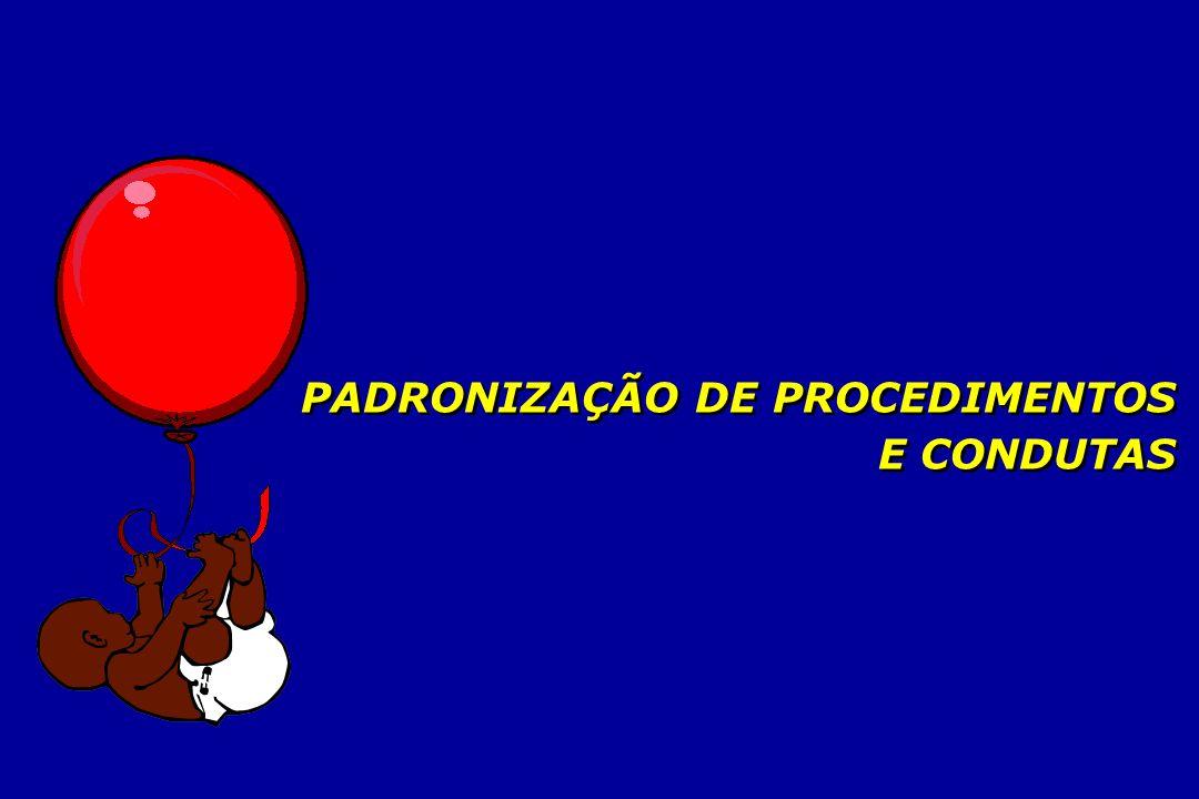 PADRONIZAÇÃO DE PROCEDIMENTOS