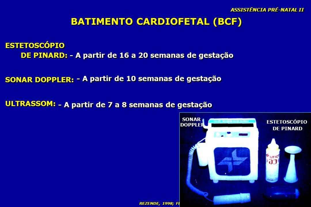 BATIMENTO CARDIOFETAL (BCF)