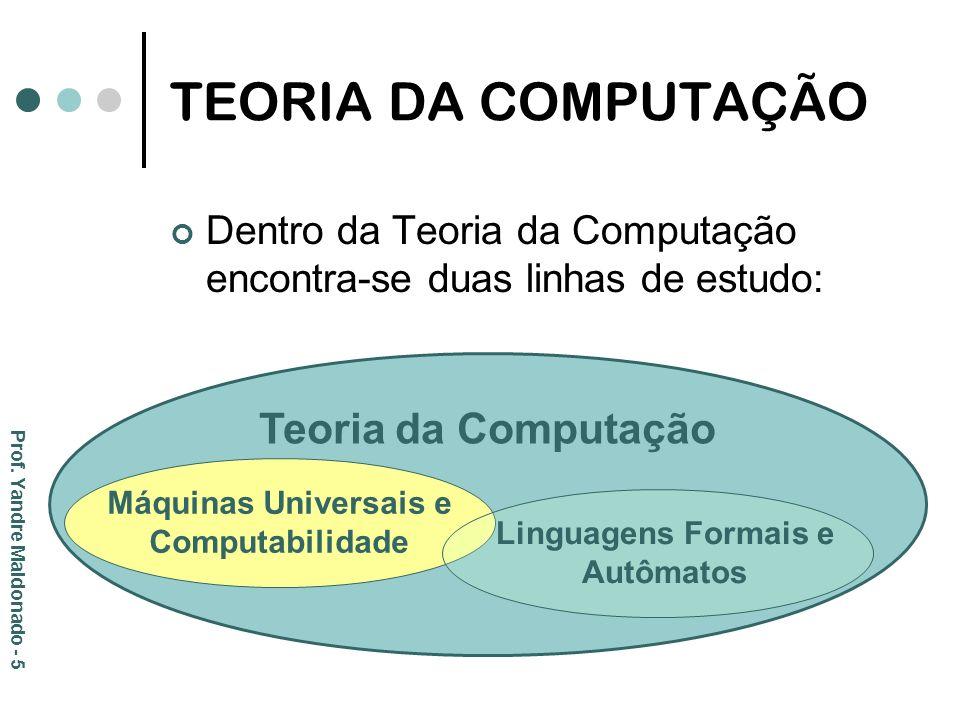 Máquinas Universais e Computabilidade Linguagens Formais e Autômatos