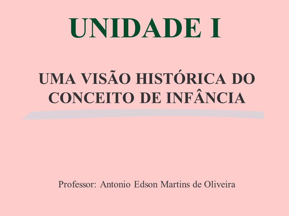 UNIDADE I UMA VISÃO HISTÓRICA DO CONCEITO DE INFÂNCIA