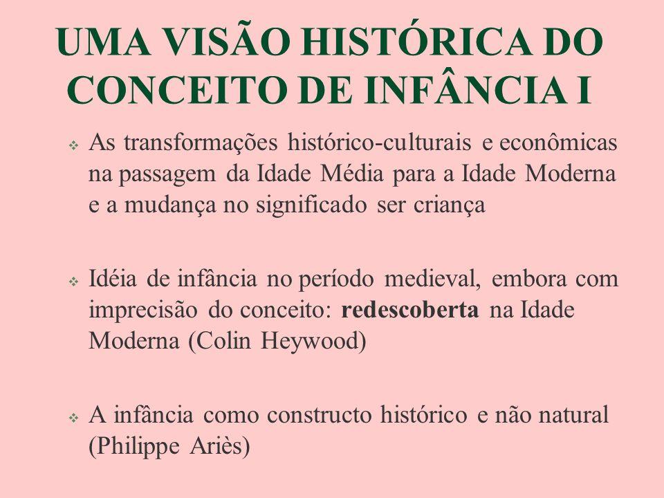 UMA VISÃO HISTÓRICA DO CONCEITO DE INFÂNCIA I