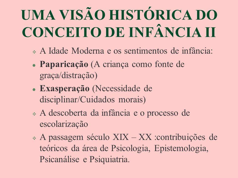 UMA VISÃO HISTÓRICA DO CONCEITO DE INFÂNCIA II