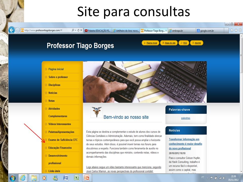Site para consultas