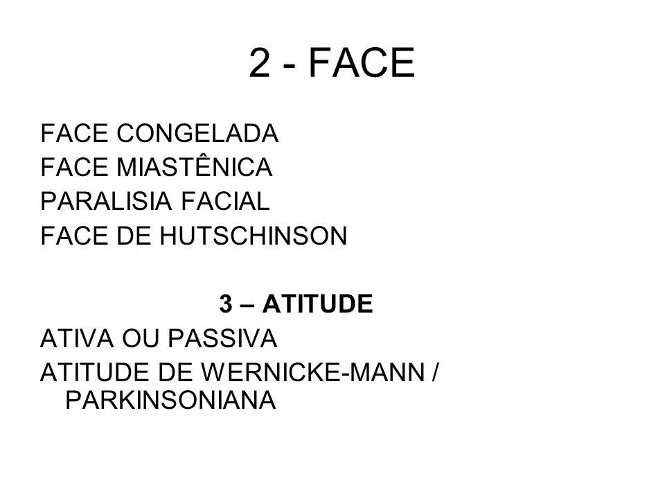 2 - FACE FACE CONGELADA FACE MIASTÊNICA PARALISIA FACIAL