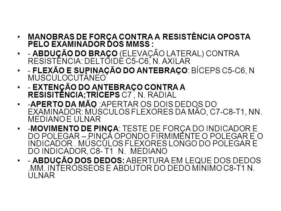 MANOBRAS DE FORÇA CONTRA A RESISTÊNCIA OPOSTA PELO EXAMINADOR DOS MMSS :
