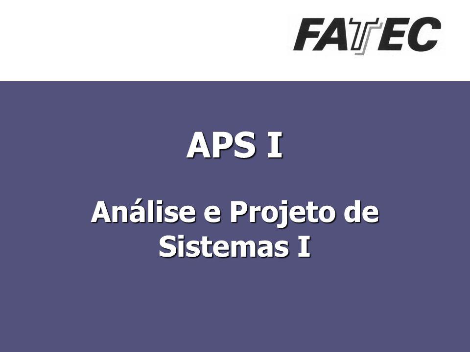 APS I Análise e Projeto de Sistemas I