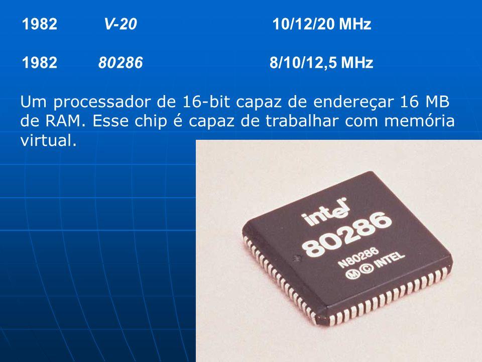 1982 V-20. 10/12/20 MHz. 80286. 8/10/12,5 MHz.