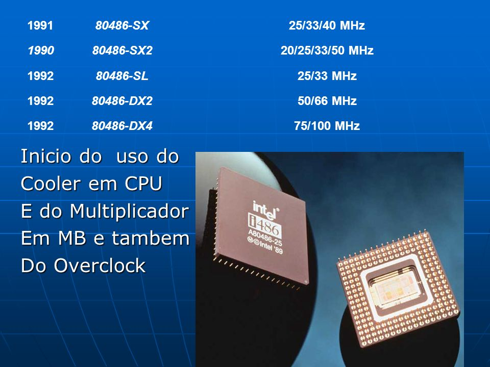 Inicio do uso do Cooler em CPU E do Multiplicador Em MB e tambem