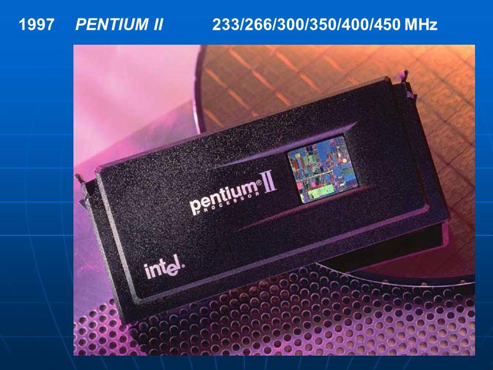 1997 PENTIUM II 233/266/300/350/400/450 MHz