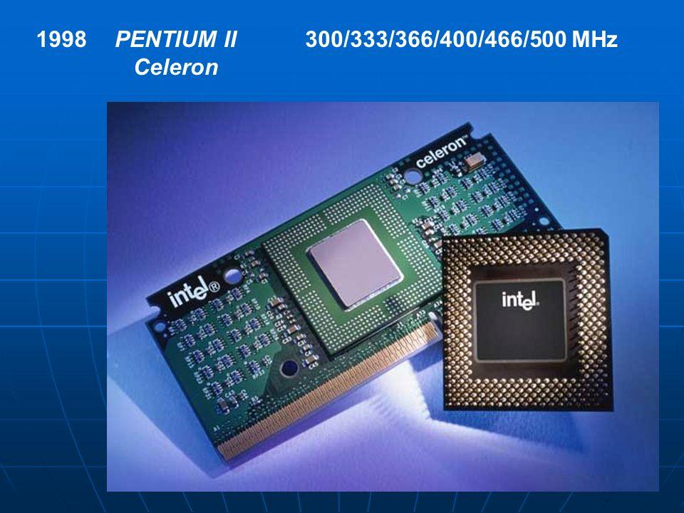 1998 PENTIUM II Celeron 300/333/366/400/466/500 MHz