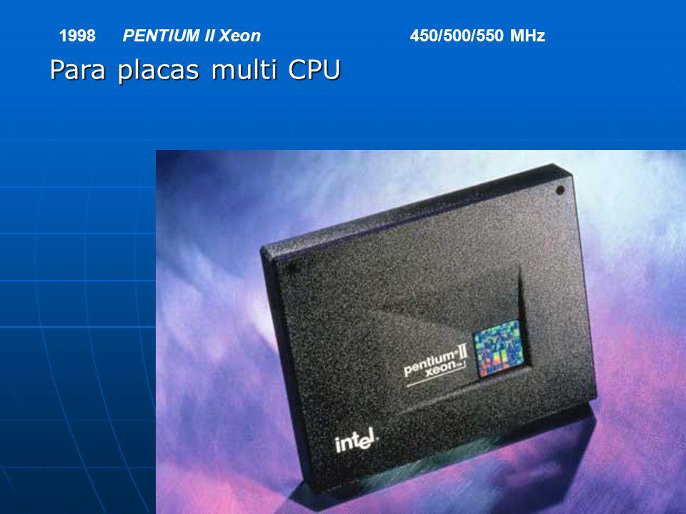 1998 PENTIUM II Xeon 450/500/550 MHz Para placas multi CPU